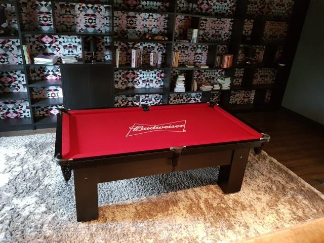 Mesa de Redinhas Tecido Vermelho Cor Preta Personalizada Bud Modelo BuD1909 - Foto 2
