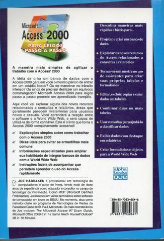 Livro - Microsoft Access 2000 para Leigos Passo a Passo Joseph W. Habraken - Foto 2