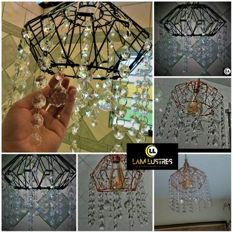 Vendo Lustres com cristais k9 - Foto 2