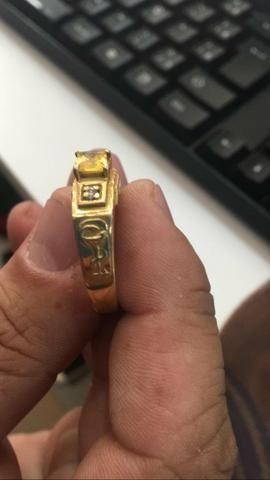 Anel de formatura, curso farmácia, 7.5 grama ouro 18k tamanho 27. 1400 reais - Foto 6