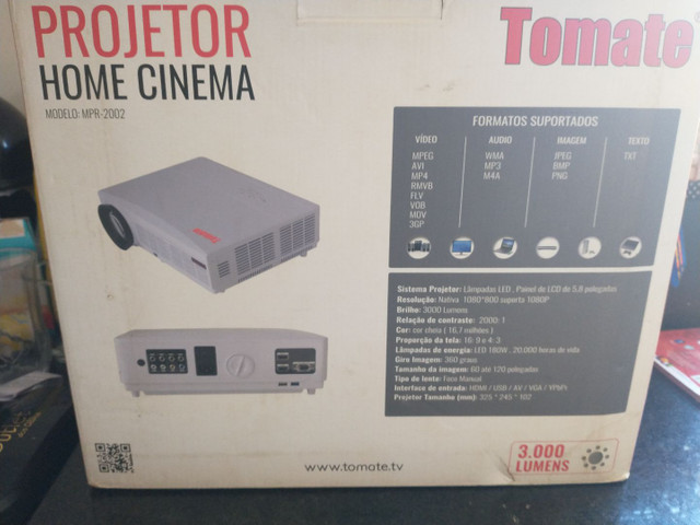 Projetor Datashow 3000 Lumens Home Cinema Tomate Mpr-2002 3000 lumens - Foto 5