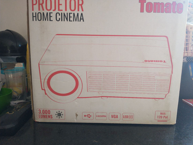 Projetor Datashow 3000 Lumens Home Cinema Tomate Mpr-2002 3000 lumens - Foto 2