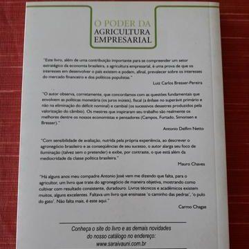 O Poder Da Agricultura Empresarial. Antonio Jose de Oliveira Costa. Ed Saraiva - Foto 2