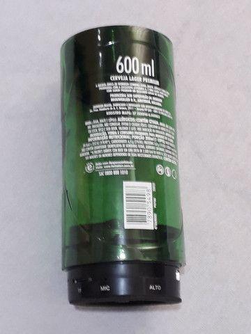 Caixinha de som heineken garrafa 600ml - Foto 3