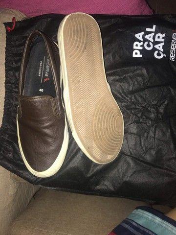 Tênis de sapato da reserva couro legítimo  - Foto 3