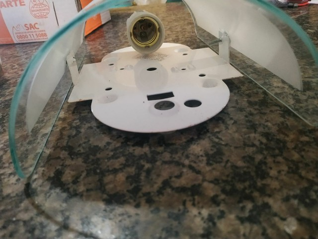Kit de 2 Arandelas p/ 1 lâmpada - Foto 3