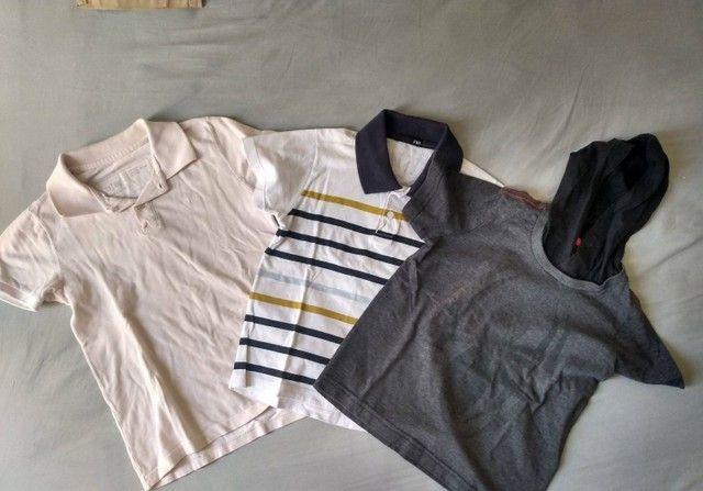 Lote roupas menino kids 3 e 4 anos bermudas camisetas moda praia verão - Foto 5