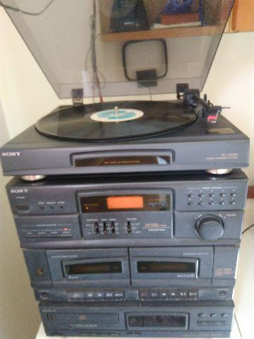System Sony + LPs ( vinil )