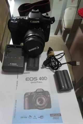 Câmera com lente Canon EOS 40D: excelente! - Foto 4