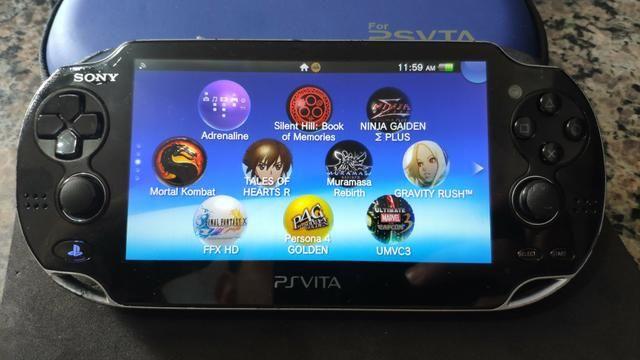 PS Vita 32GB - Desbloqueado Total - Completo - Videogames