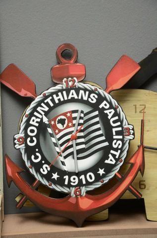 Relógio de parede Corinthians- mdf 6mm motor contínuo
