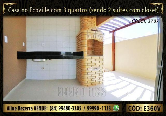 Casa no Ecoville com 3 quartos sendo 2 suítes com closet, e área gourmet - Foto 4