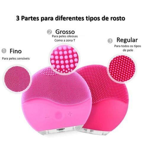 Escova Massageadora de Limpeza Facial Ultrassônica Forever - Foto 2