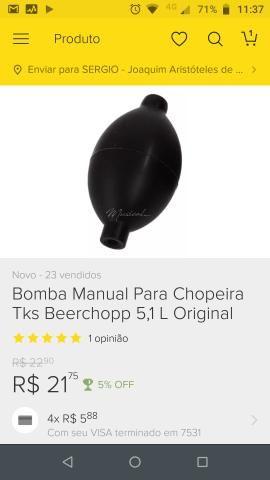 Vendo Chopeira Beer House, 5 litros de Alumíno - Foto 4
