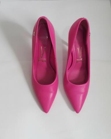 Sapato pink salto cristal - Foto 2