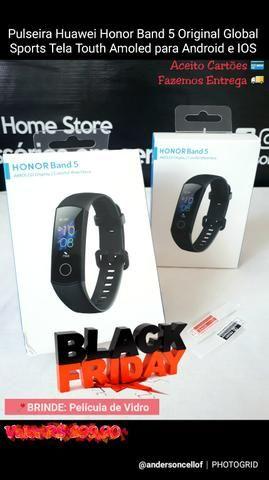 Pulseira Huawei Honor Band 5 Original Global Sports Touth Amoled Android e IOS