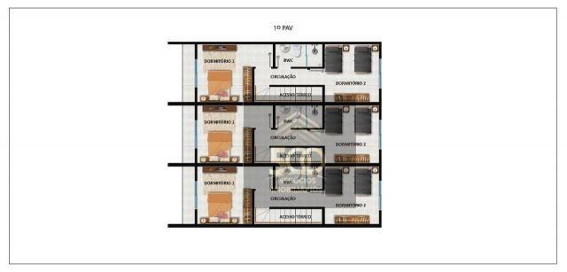 Sobrado com 2 dormitórios à venda, 64 m² por r$ 180.000,00 - potecas - são josé/sc - Foto 3