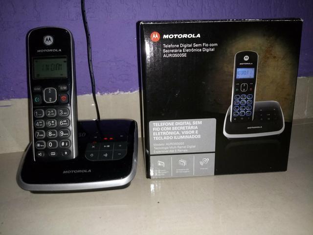 Telefone s/fio Motorola - secr. eletrônica, viva voz - Foto 3