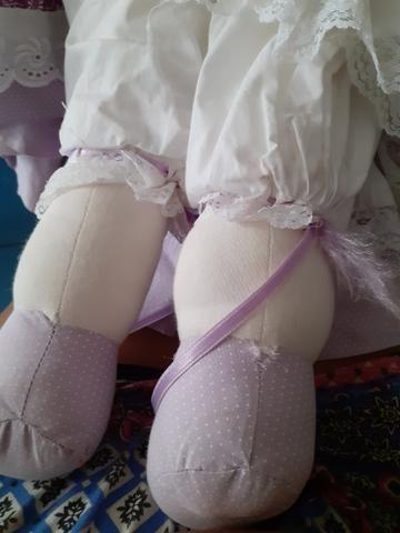 Boneca de pano LEIA - Foto 4