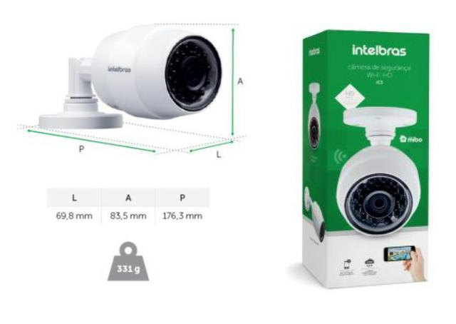 Câmera de Segurança Externa IP WI-FI HD IC5 - Intelbras - Áudio, TV 18b165fe0c