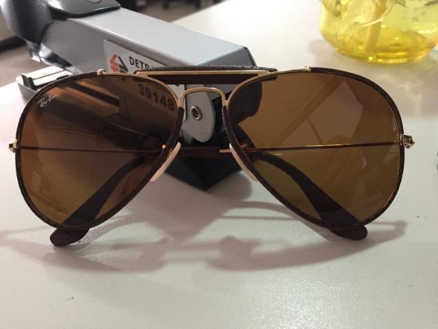 7e07dab67 Óculos ray-ban aviador leather - Bijouterias, relógios e acessórios ...