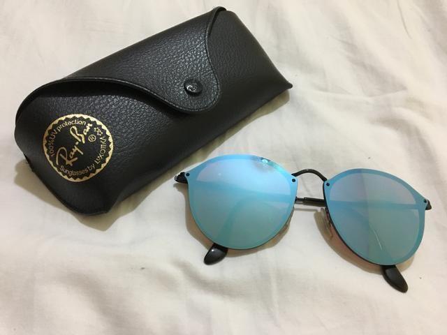 afff8837c Rayban Azul espelhado lente marrom ORIGINAL - Bijouterias, relógios ...