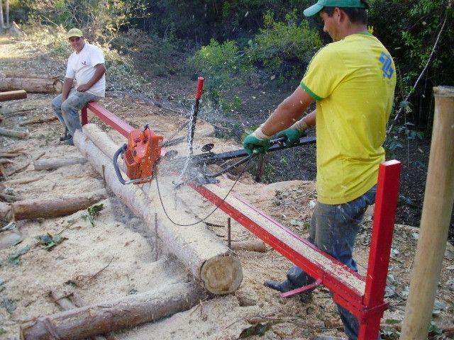Serraria Movel Portatil Motosserra Trilho Tábua 5 Mts Nova - Foto 2