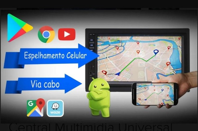 Multimídia mp5 tela 7 Bluetooth espelhamento fia cabo - Foto 5