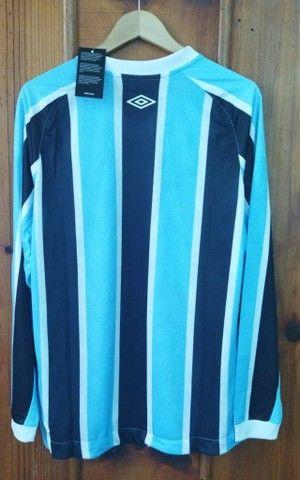 Camisa Grêmio 2021/22 Manga Longa Tricolor - Foto 2