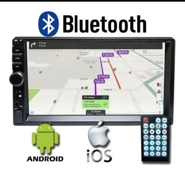Multimídia mp5 tela 7 Bluetooth espelhamento fia cabo - Foto 3