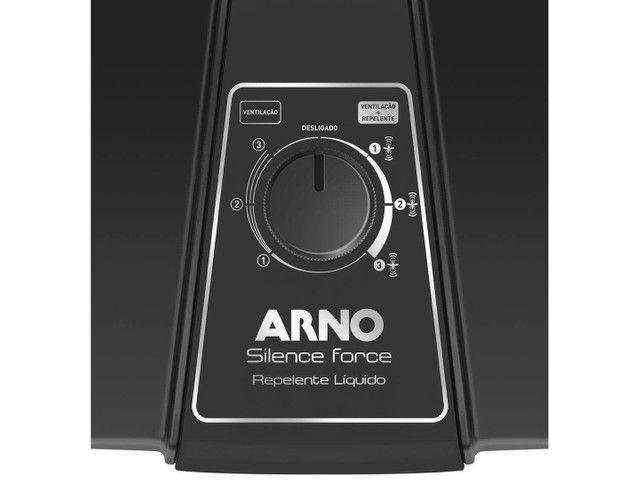 Ventilador Silence Force Repelente Líquido Arno Preto 110V - Foto 3