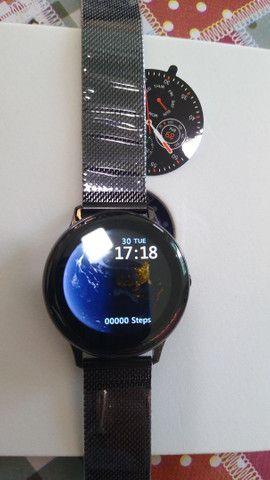 Relógio Inteligente Smartwatch Dt88 Pro Rosa Original - Foto 3