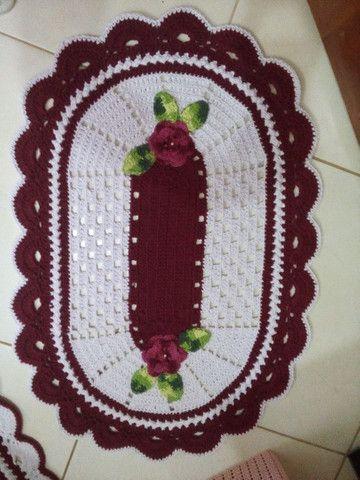 Jogo de banheiro 3 peças em crochê  - Foto 2