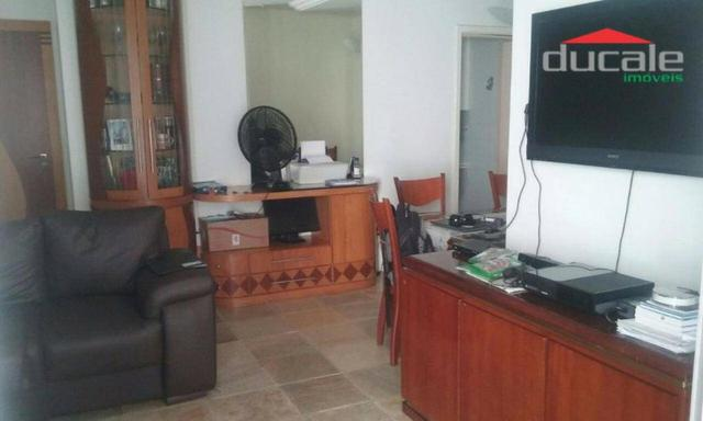 Jardim Camburi: 3 quartos com suíte, 105m2, dependência completa, Sala em L, Elevador, Var