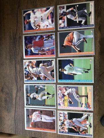 Cartas colecionáveis baseball