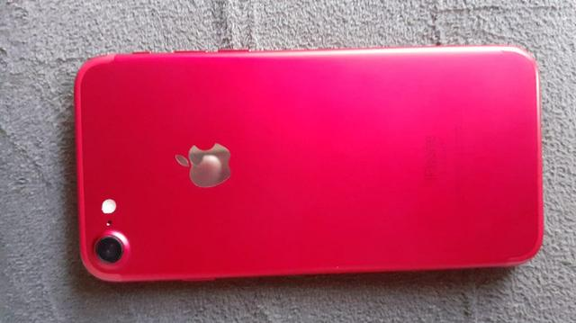 Vendo ou troco iPhone 7red 128gb - Foto 3