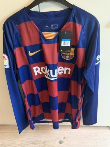 Camisa Barcelona Home manga longa