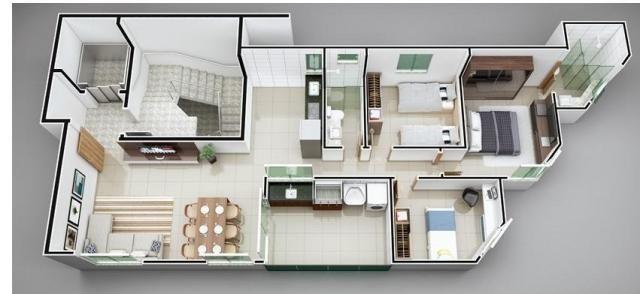 Apartamento à venda com 3 dormitórios em Imbaúbas, Ipatinga cod:956 - Foto 3