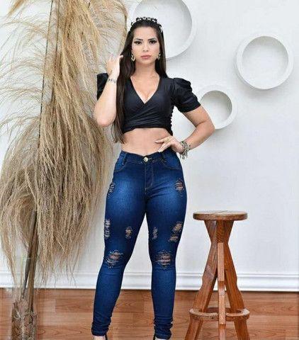 Calça jeans destroyde  - Foto 2