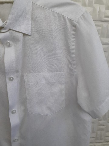 Camisa Branca Manga Curta - Social Masculina - Tam 1/P - Riachuelo Laville - Foto 4