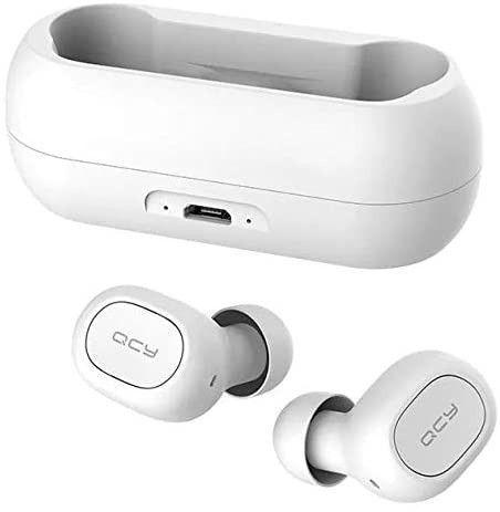Fone de ouvido In-ear sem fio Xiaomi QCY T1C branco e Preto - Foto 2