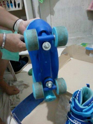 Patins Power Roller Star com Luzes - Foto 3