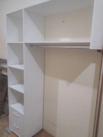 Mini closet em mdf branco com 2 gavetas  - Foto 2