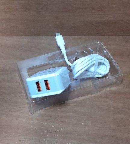 Carregador Rápido Tipo C com 2 USB - Produto com garantia  - Foto 3