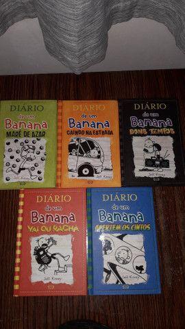 Livros diario de um banana 8 ao 12 todos de capa dura