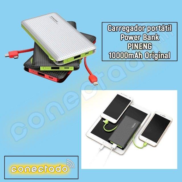Carregador portátil Power Bank Pineng 10000mAh