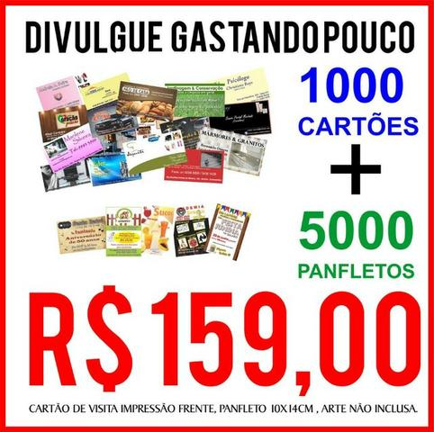 Divulgue gastando pouco! Kit Panfletos + Cartão de Visita