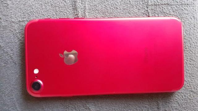 Vendo ou troco iPhone 7red 128gb - Foto 4