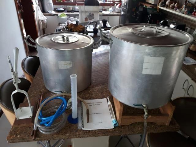 Kit Mini Cervejaria Cervejando 60 litros Top de Linha