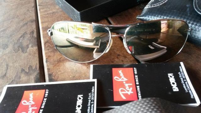 Óculos de Sol Ray-Ban estilo Aviator - Hastes em fibra de carbono - na 6011641610
